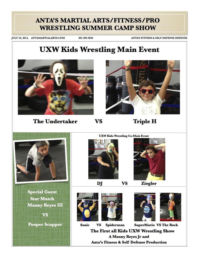 Summer Camp Wrestling Poster 7-13