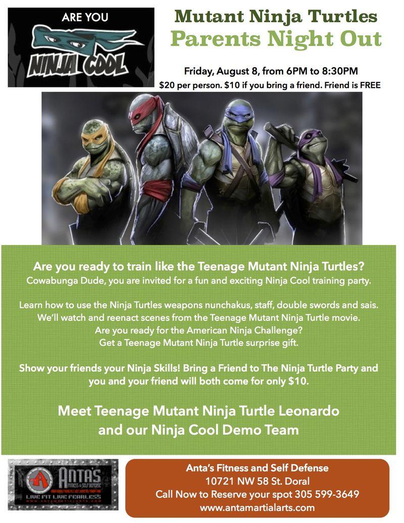 Ninja Turtle parents night out 2014