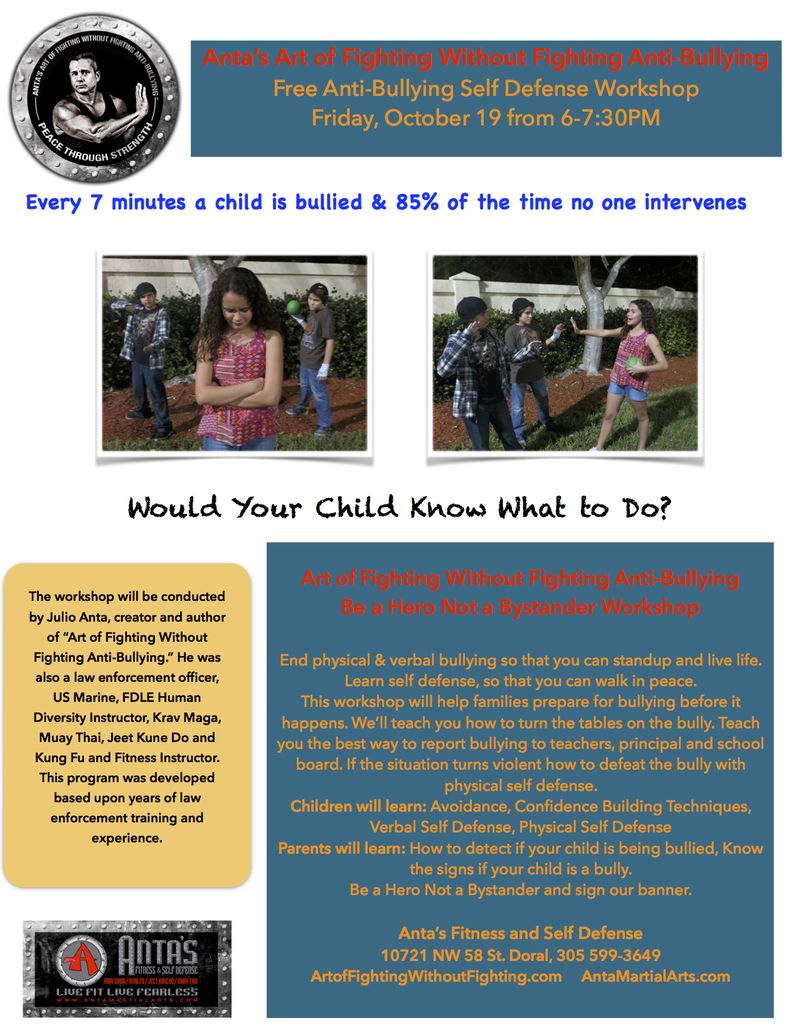 Anti-Bullying Month Workshop 10-15