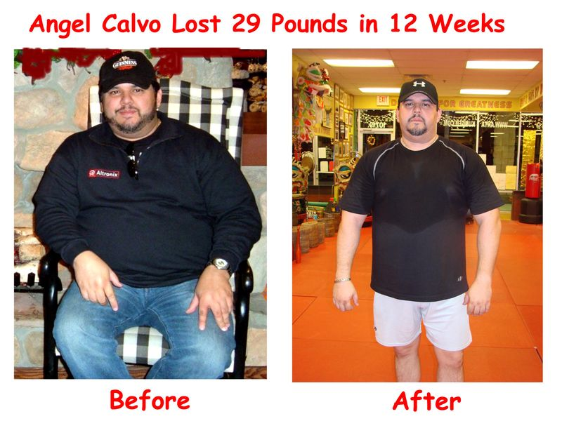 Angel Calvo before after